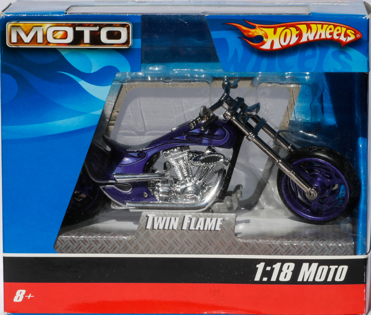 Hot Wheels 1-18 Moto Twin Flame