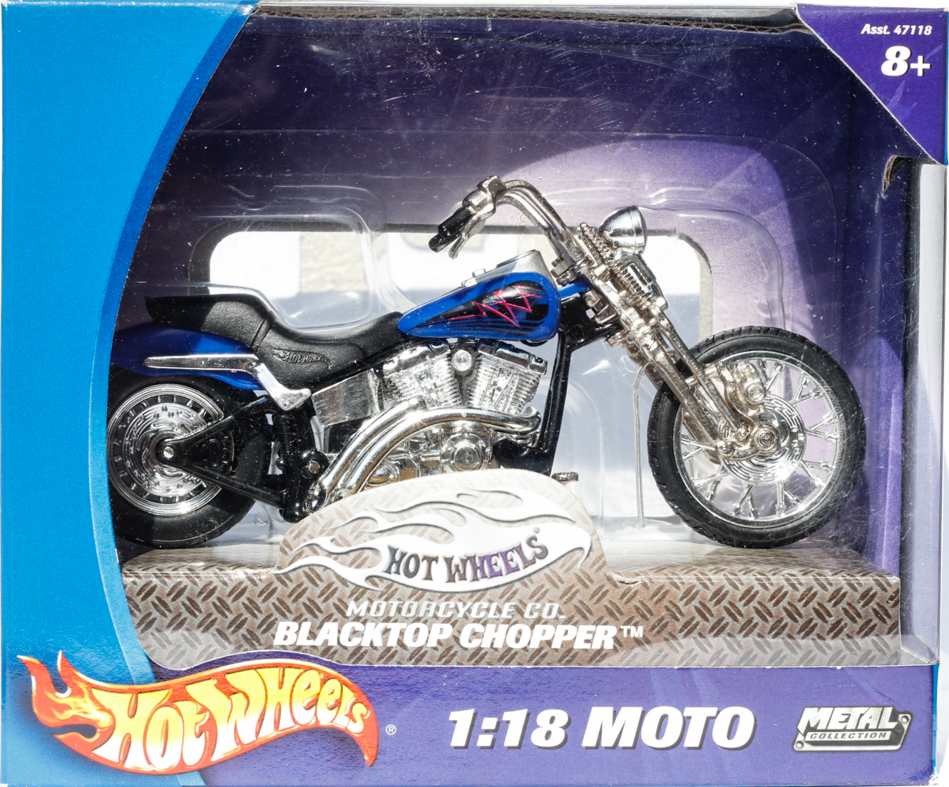 Hot Wheels 1-18 Moto Blacktop Chopper