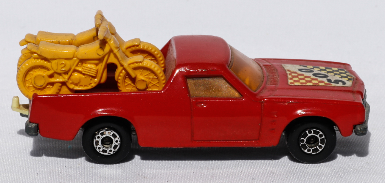 Matchbox Holden Pickup and 2 Trial Bikes